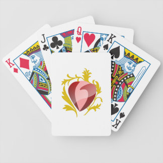 strawberry heart bicycle playing cards