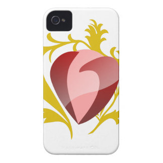 strawberry heart Case-Mate iPhone 4 case