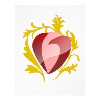 strawberry heart letterhead