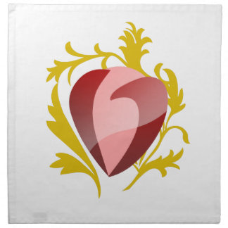 strawberry heart napkin