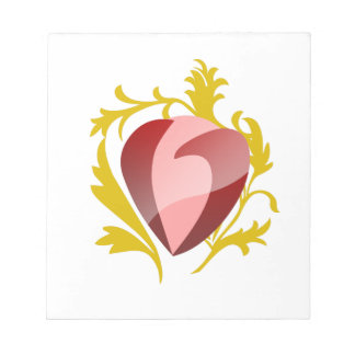 strawberry heart notepad