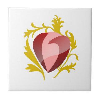 strawberry heart tile