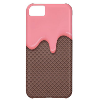 Strawberry Ice Cream Cone Cover For iPhone 5C