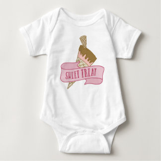 Strawberry Ice Cream Sweet Treat Baby Bodysuit