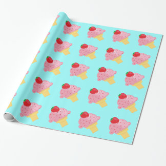 Strawberry Ice Cream Wrapping Paper