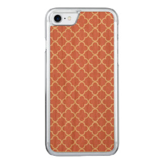 Strawberry Ice White Quatrefoil Moroccan Pattern Carved iPhone 8/7 Case