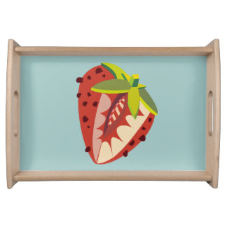 Strawberry illustration serving tray