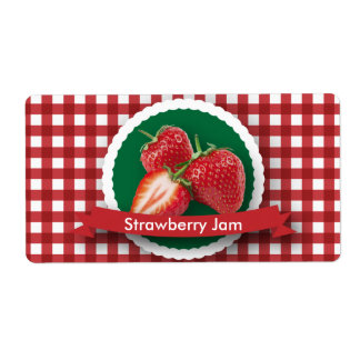 Strawberry Jam Canning Label Shipping Label