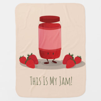 Strawberry Jam cartoon character | Baby Blanket