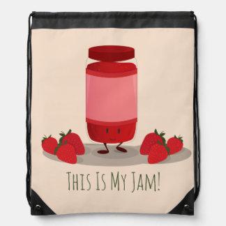 Strawberry Jam cartoon character   Backpack