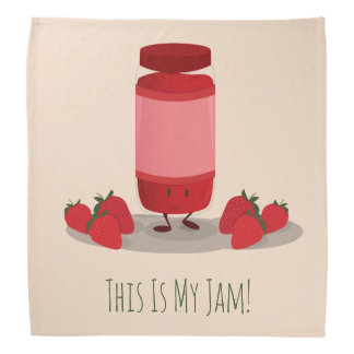 Strawberry Jam cartoon character | Bandana