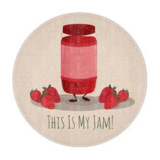 Strawberry Jam cartoon character | Cutting Board