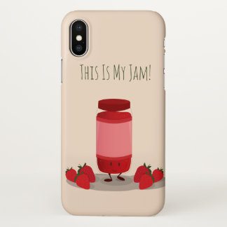Strawberry Jam cartoon character | iPhone X Case