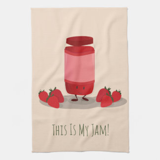 Strawberry Jam cartoon character | Kitchen Towel
