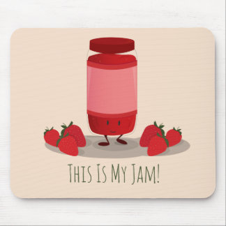 Strawberry Jam cartoon character | Mousepad