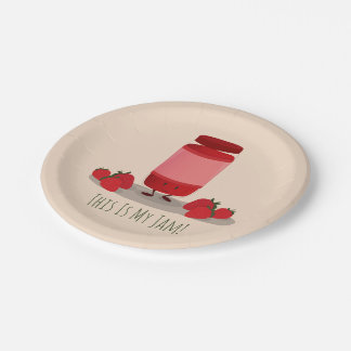 Strawberry Jam cartoon character | Paper Plate