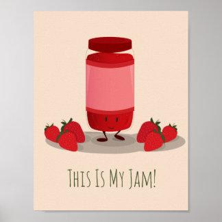 Strawberry Jam cartoon character | Poster
