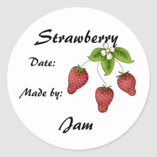 Strawberry Jam Jar Label (Customize)