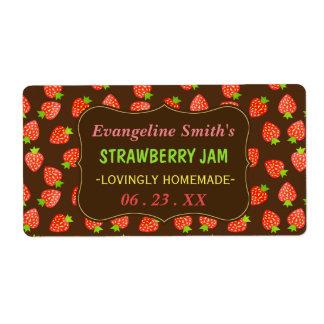 Strawberry Jam Jar Pretty Custom Strawberries Shipping Label