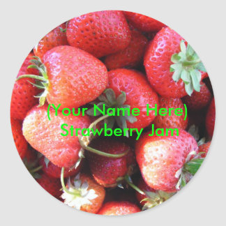 Strawberry Jam Label Sticker