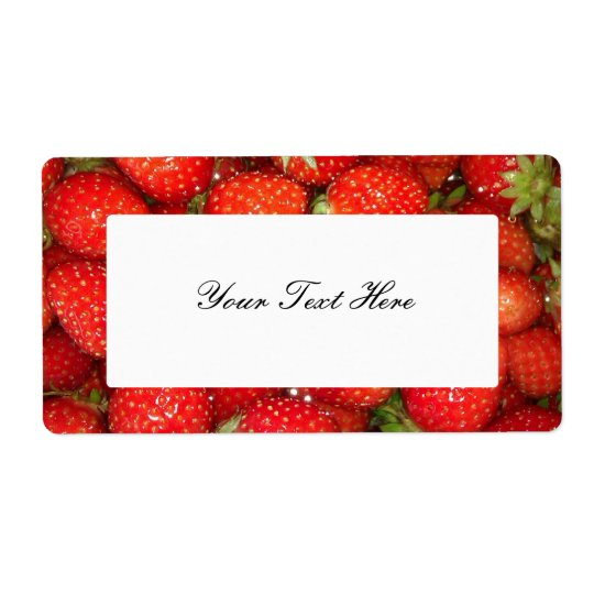 Strawberry jam label stickers
