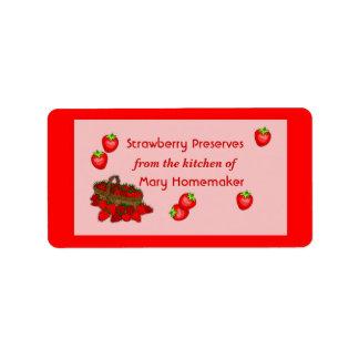 Strawberry Jam or Strawberry Preserves Labels