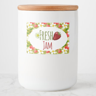 Strawberry Jam Preserves Canning Label