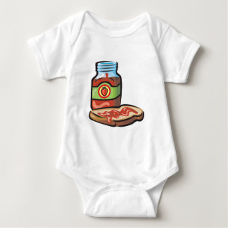 strawberry jelly jam and toast baby bodysuit