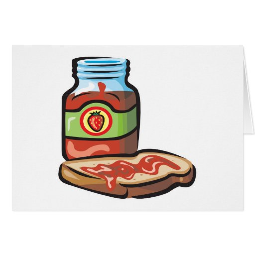 strawberry jelly jam and toast cards