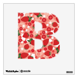 Strawberry - Letter B, Wall Decal