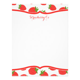 Strawberry Letterhead
