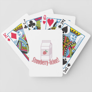 Strawberry-licious Bicycle Playing Cards