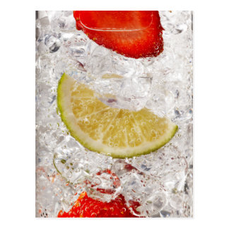Strawberry Lime Drink Postcard