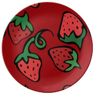 Strawberry Love Porcelain Plates