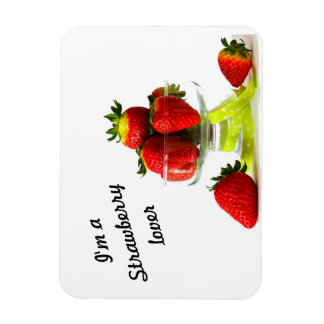 strawberry lover photo magnet