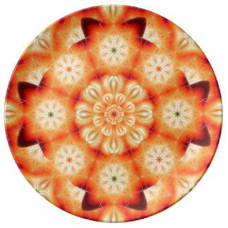 Strawberry Mandala Porcelain Plates