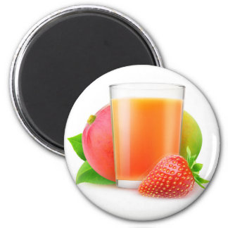 Strawberry mango smoothie magnet