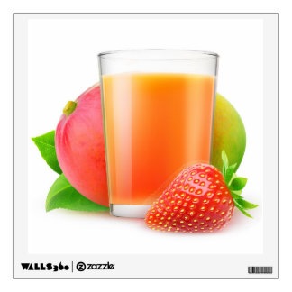 Strawberry mango smoothie wall decal