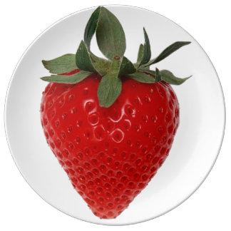 Strawberry Porcelain Plates