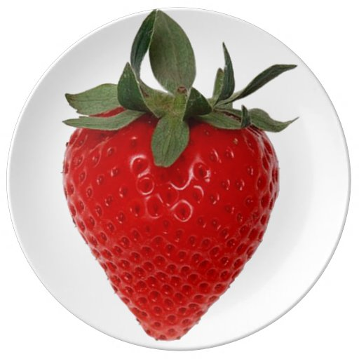 Strawberry Porcelain Plates