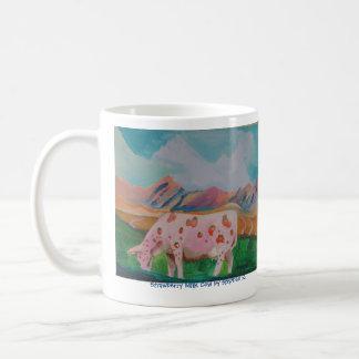Strawberry Milk Cow by Stephen R. Coffee Mug