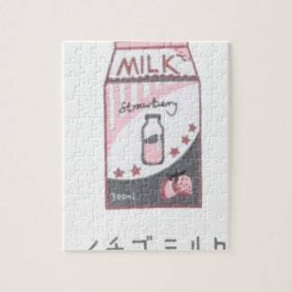 Strawberry Milk Harajuku Design Jigsaw Puzzle