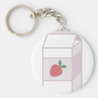 Strawberry Milk Keychain