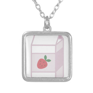 Strawberry Milk Silver Plated Necklace