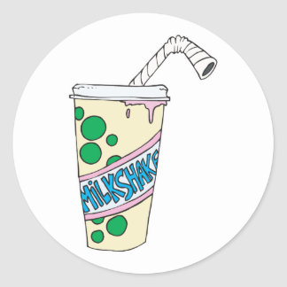 strawberry milkshake classic round sticker