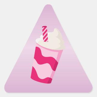 Strawberry Milkshake Triangle Sticker