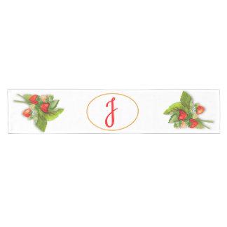 Strawberry Monogram Short Table Runner