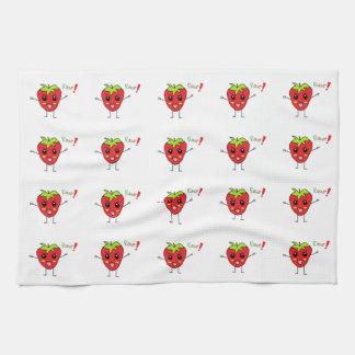 Strawberry Monster Kitchen Towel