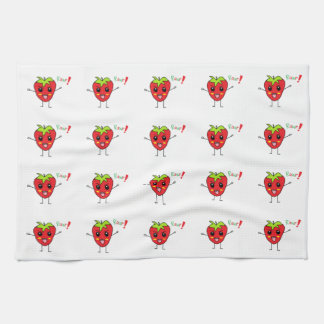 Strawberry Monster Kitchen Towels