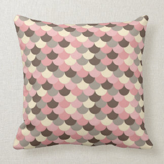 Strawberry Mouse Fish Scale Pattern Throw Pillow